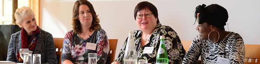 Four women in conversation