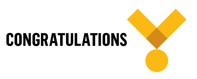 Text: Congratulations Image: Yellow medal icon