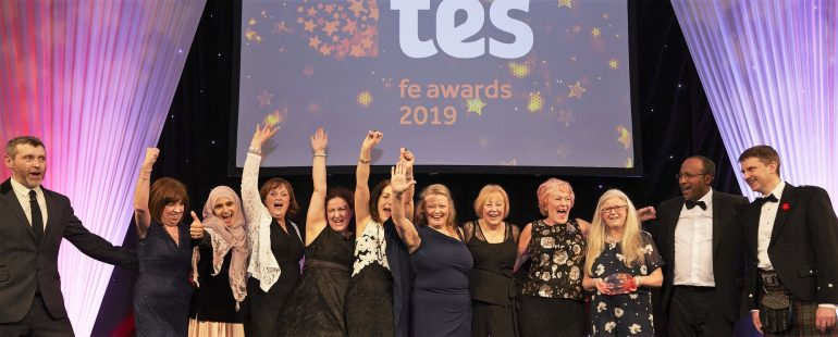 Overall Provider of the Year winners celebrate with David Russell ETF Chief Exec