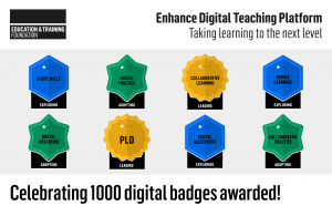 Enhance Digital Teaching Platform 1000 badges awarded