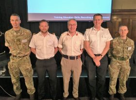 Armed Forces representatives at Invictus Games trials employment symposium