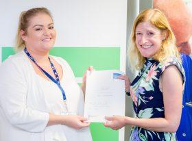 Gemma O'Brien receiving graduates from the SET for Teaching Success programme