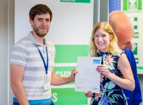 Jack Sutcliffe receives his SET for Teaching Success certificate