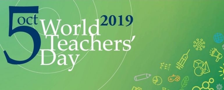 World Teachers Day logo longform