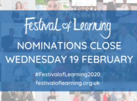 Festival of Learning |Awards extended nominations deadline graphic