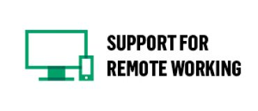 Support for remote working