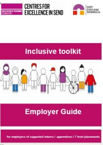Centres for Excellence in SEND Inclusive Toolkit Employer Guide front cover image