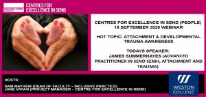 Image of title slide of webinar on attachment and developmental trauma awareness