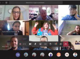 MS Teams screen of virtual teaching at Weston College