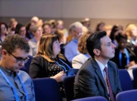 A conference audience