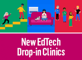 EdTech drop in clinics graphic