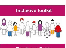 Front cover of the Inclusive Toolkit Employer Guide