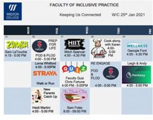 Image of a calendar with wellbeing activities under dates