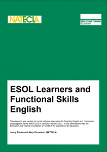 ESOL Learners and Functional Skills English
