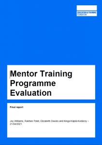 Mentor Training Programme Evaluation report cover