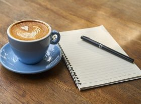 Coffee and notepad