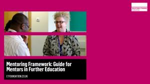 ETF Mentoring Framework - Guide for Mentors in Further Education