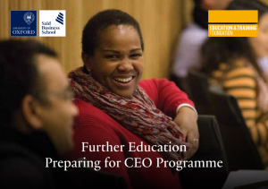Preparing for CEO programme cover