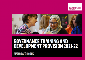Governance training and development provision brochure cover